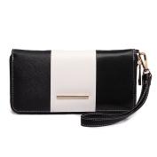 Miss Lulu Women Centre Stripe Purse Faux Leather Wallet Clutch Hand Bag