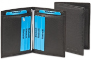 Rimbaldi - Licence-/Creditcard case for 6 credit cards and 4 licence-cards made, from soft, untreated calf leather in Black