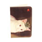 Royal White Kitty Business, Credit & ID Card Holder