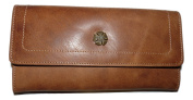 Mala leather Tudor Collection Large Purse Tan 3318 88 RFID protection