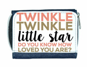 Twinkle Twinkle Little Star Do You Know How Loved You Are Ladies Purse - Blue