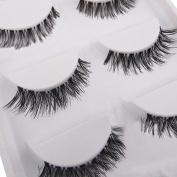 5 Pairs Makeup Necessay Soft Black Cross Long False Eyelash Eye Lash Extension by Phoenix b2c