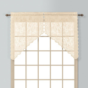 United Curtain Windsor Lace Swags, 140cm by 100cm , Natural, Set of 2