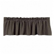 Home Collection by Raghu Newbury Gingham Black Valance, 180cm by 39cm