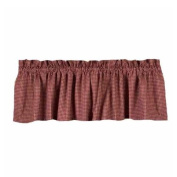 Home Collection by Raghu Newbury Gingham Barn Red Valance, 180cm by 39cm