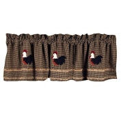 Home Collection by Raghu Rise and Shine Rooster Oat Valance, 180cm by 39cm