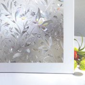 Zindoo Privacy window film Stain Glass Window cling No-Glue Static Decorative Window Films 45cm by 200cm