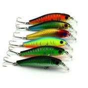 Iuhan 6PC 8.5 CM 3D Artificial Fish Eyes Fishing Bait Minnow Hard Fishing Baits