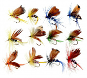 RoseSummer 12pcs/set Butterfly Style Salmon Flies Trout Dry Fly Fishing Lure Fishing Tackle