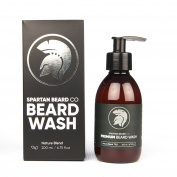 Premium Luxurious Beard Wash, Beard Shampoo by Spartan Beard Co. Made from 100% Natural Ingredients for The Best Beard Care Shampoo. Promotes Healthy Beard Growth. XL 200ml + Free  .