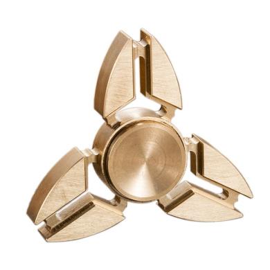 Anself Tri Fidget Spinner Toy for Killing Time, Brass
