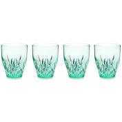 Q Squared Aurora Crystal BPA-Free Tritan Plastic Wine Glasses, 12-Fluid Ounces, Set of 4, Seaglass