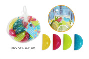 Reusable Ice Cubes Pack of 40 Lemon Shape Great For Keeping Beverages Cool Party