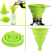 SMARTSTORE No Spills-Adjustable Silicone COLLAPSIBLE FUNNEL Ideal For Narrow Necked Bottles