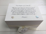 Gift for a daughter on her wedding day. Shabby chic style Personalised chic Jewellery trinket keepsake Box any name