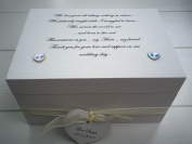 Shabby Personalised Chic mother of the bride Jewellery trinket keepsake Box mum mam mom any name