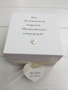 Shabby Personalised Chic Special Bridesmaid Maid Matron of Honour Wedding day Thank you Gift Trinket Jewellery Box