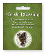 St Patrick's Day Harp Brooch Irish Blessing St Patrick's day
