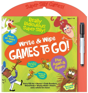 Peaceable Kingdom / Really Ridiculous Super Silly Write & Wipe Games To Go! Activity Book