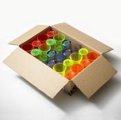 Plastic Shot Glasses, 24 Pack - 25ml/2.5cl | Mixed Colours, Polystyrene Drinkware Range