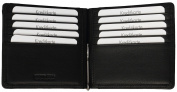 Brown Bear Men's Black Leather Money Clip Wallet with Coin Pocket ( - Golf 1018 BK