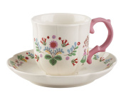 Katie Alice Festival Folk Breakfast Cup And Saucer, White