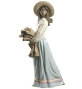 WOMAN WITH WHEAT Ornament Nao Porcelain By Lladro 2012025