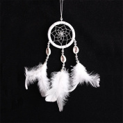 1 Pcs Indian Craft Gift Circular Dream Catcher with Feather Shell Kid Gift Wall Hanging Decoration Ornament