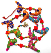 Traditional Indian Hanging Decoration 10 Tota Bird Bell Door Hanging By Mango Gifts India