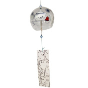 Japanese Furin Wind Chimes Bells Handmade Glass Craft Birthday Wedding Christmas Mother's Day Gift Home Kitchen Office Spa Garden Patio Decors Cartoon