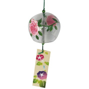 Japanese Furin Wind Chimes Bells Handmade Glass Craft Birthday Wedding Christmas Mother's Day Gift Home Kitchen Office Spa Garden Patio Decors Rose