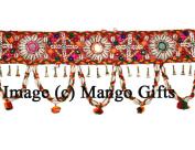 Decorative Handcrafted Multicolour Door Hangings, Traditional Rajasthani Bhandhanwar Toran