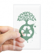 CafePress - Recycle - Rectangle Bumper Sticker Car Decal