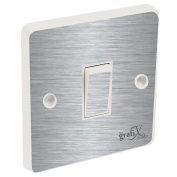 Brushed Silver Light Switch Sticker Vinyl / Skin cover
