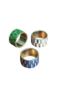 3 Multi Coloured Napkin Rings