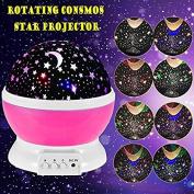 Rotating Night Light,Ferryone Romantic Sky Moon & Cosmos Cover Projector Night Lighting for Children Adults Bedroom, Mood/Decorative Light, Baby Nursery Light, Living Room Gift