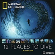National Geographic 12 Places to Dive 30 x 30 Grid Calendar 2018