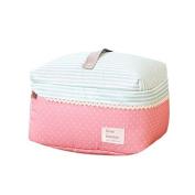Garrelett Cosmetic Bag Pouch Dot Pattern Zipper Polyester Waterproof Travel Bag Toiletry Makeup Organiser Beauty Case Box for Women Girls 2PCS