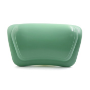 uxcell 30cm x 18cm Luxury Spa Bath Pillow with Suction Cups Fits All Types of Bathtub Green