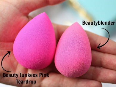 Pro Beauty Sponge Blender 2 pc Pink Teardrop Set: Makeup Sponges for Foundation Blending, Stippling, Highlighting and Contouring! Flawless Applicator for Liquid, Creams, and Powders, Latex Free