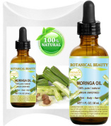 MORINGA OIL WILD GROWTH Himalayan. 100% Pure / Natural / Undiluted/ Virgin / Unrefined. 1 Fl.oz.- 30 ml. For Skin, Hair, Lip and Nail Care. by Botanical Beauty