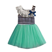 Hot Baby Dress! AMA(TM) Toddler Kids Baby Girls Striped Sleeveless Bowknot Tulle Tutu Princess Party Dress