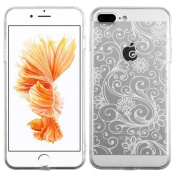MyBat Cell Phone Case for Apple IPhone 7 Plus - White four-leaf Clover