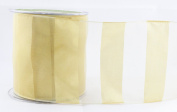May Arts 430-4-30 10cm Wired Sheer Stripes Ribbon, 15 yd, Gold