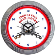 Neonetics From My Cold Dead Hands Firearms Neon Wall Clock, 38cm