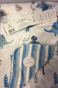 Sweet Lullaby Baby Blanket Elephant Party Blue Reversible Soft Sweet Lullaby