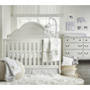 Wendy Bellissimo Hudson Grey/White Elephant 4 Piece Crib Bedding Set
