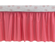 CoCaLo Collection Coral Cotton Sateen Gathered Dust Ruffle Crib Bed Skirt