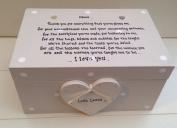 Handpainted Shabby Chic Style Personalised Special Mum Mam Mummy Mother Mom Keepsake Jewellery Box Gift