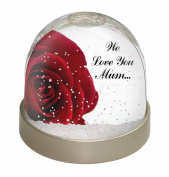 Red Rose 'We Love You Mum' Snow Dome Globe Waterball Gift